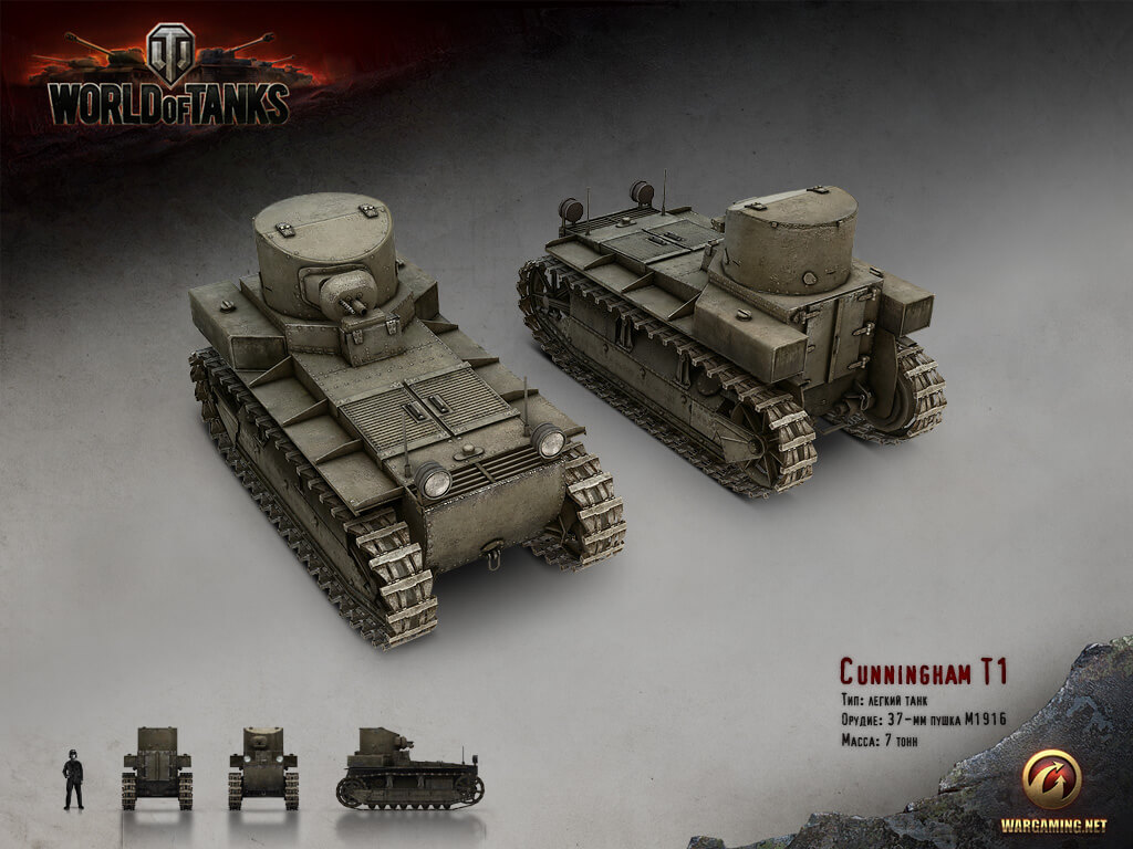 T1 Cunningham | World of Tanks